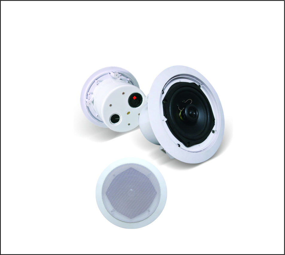 8inch Ceiling Speaker with rear cover and power tap