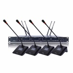 UHF Wireless Conference with 4 Microphone